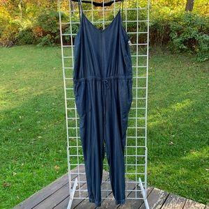 A.N.A. XL 1-PC Jumpsuit Blue Spaghetti Straps NWT